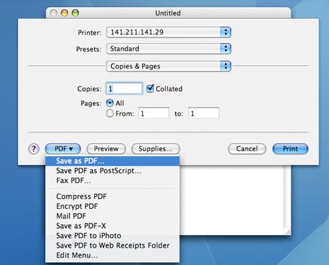 select save as pdf and click print